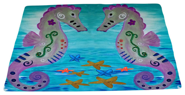 Sea Life Area Rugs From My Art Seahorse Beach Style