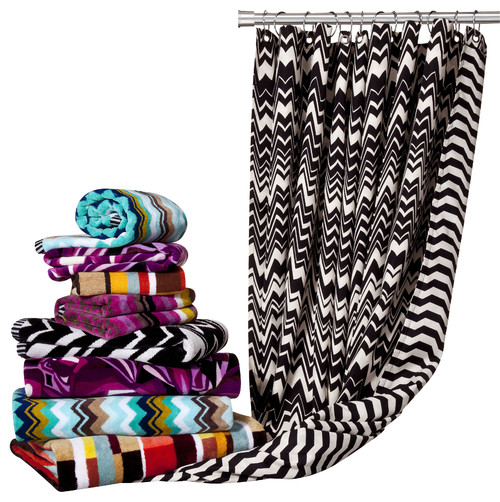 Missoni for Target®: Hand and Bath Towels, Shower Curtain  bath and spa accessories