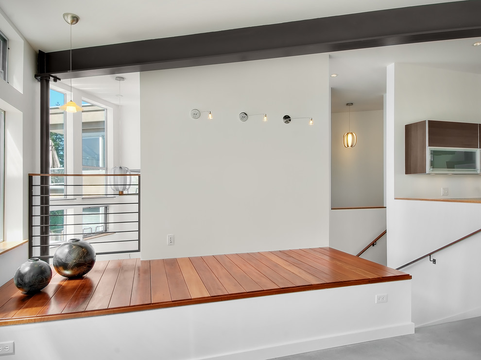 Example of a trendy home design design in Seattle