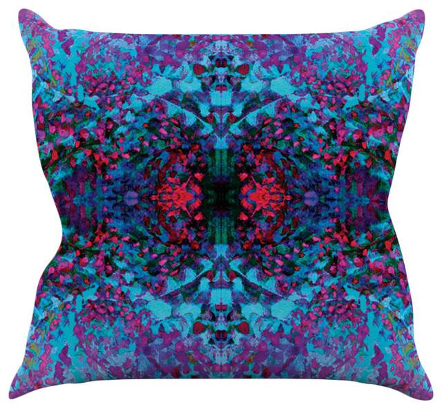 Blue Purple Throw Pillows : Kess InHouse - Nikposium