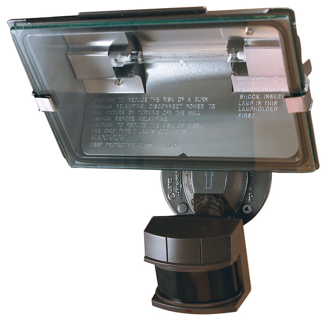 Heathco Bronze Dual Brite Motion Sensor Quartz Security Light
