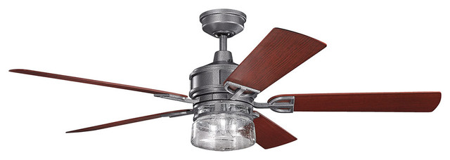 """Kichler 310140 Lyndon Patio 60"""" Outdoor Ceiling Fans with 5 Blades"""