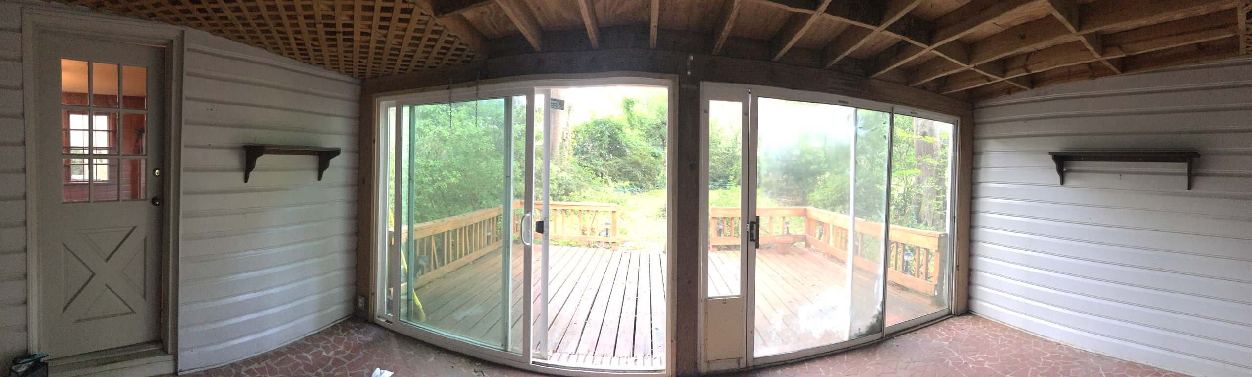 Back Porch Before