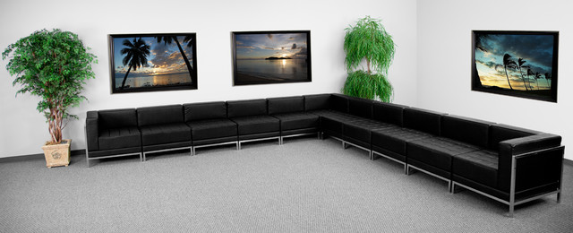 MFO Immaculate Collection Leather Sectional Configuration, 11 Pieces