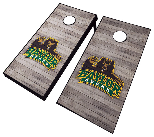 Baylor Distressed Cornhole Set Contemporary Outdoor
