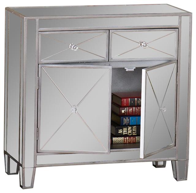 Southern Enterprises Sei Mirage Mirrored Cabinet Accent
