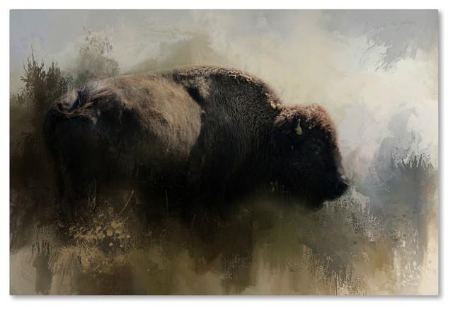 Jai Johnson &x27;abstract American Bison&x27; Canvas Art, 47 X 30. -1