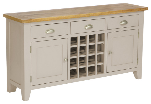 3-Drawer Wine Table, Putty