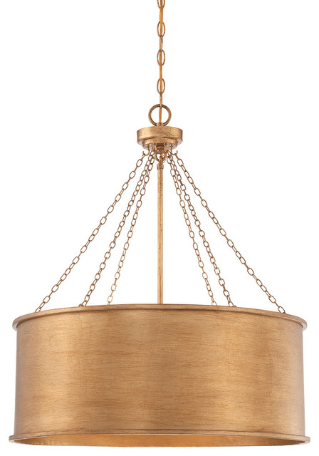 Savoy House Rochester 6 Light Pendant in Gold Patina