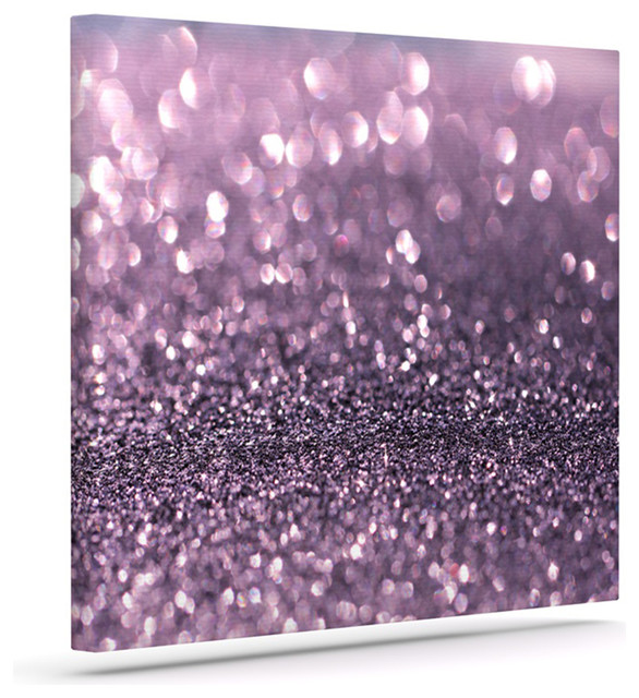 "Glitter Wall Art debbra obertanec ""lavender sparkle"" purple glitter wrapped art"
