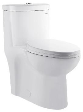 Sublime 1-Piece Elongated Toilet, Dual Flush, 0.8/1.28 gpf