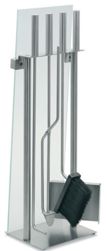 Ignis Tower Tabletop Bio Ethanol Fireplace, Stainless Steel