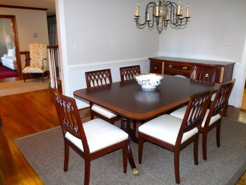 suggestions to update a traditional dining room