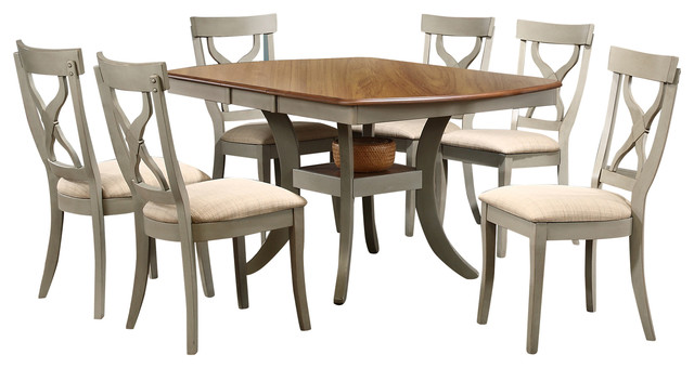 Balmoral Antique Oak 8 Piece Dining Set With 40  Extendable Dining Table   Gray. Balmoral Antique Oak 8 Piece Dining Set With 40  Extendable Dining