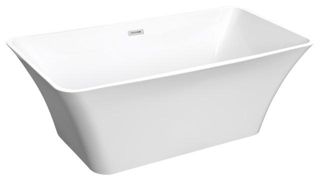 hebe white acrylic freestanding bathtub - modern - bathtubs -houzz