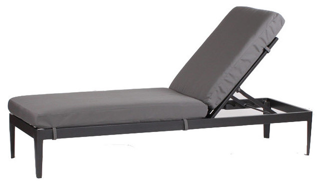 Gateway blush serene single armless chaise lounge for Armless chaise longue