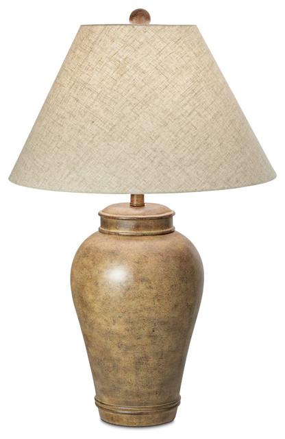 Desert Oasis 1-Light Table Lamps, Pueblo Brown.