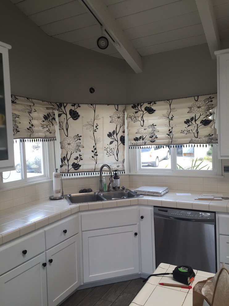 Adamski Kitchen Window, Sink and Curtains to be replaced