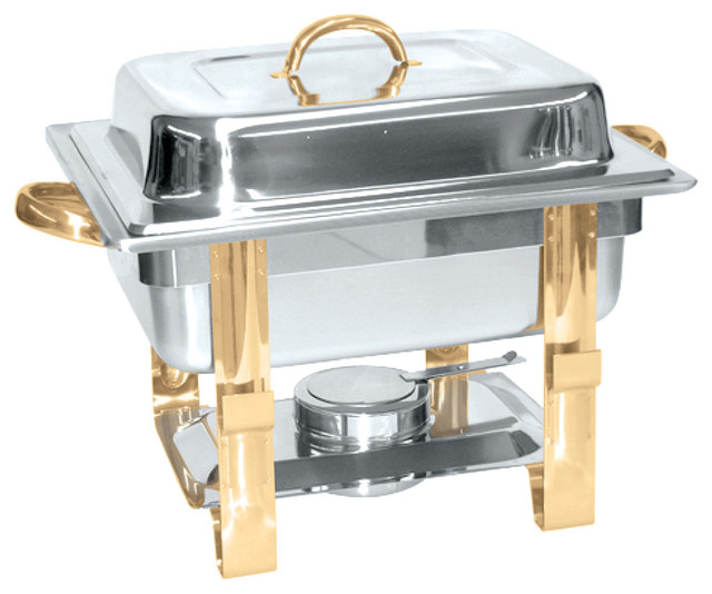 4 Qt. Gold Accented Chafer.