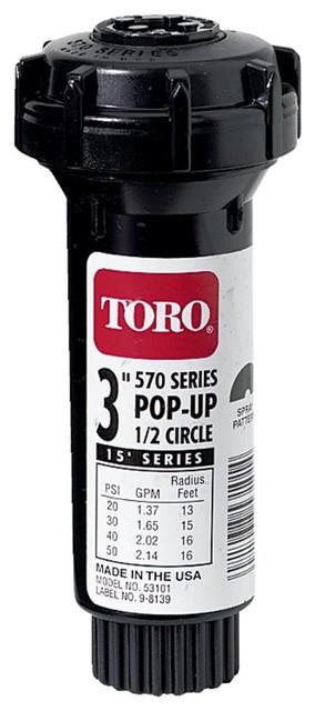 "LOT of 5 New Toro Pop Up Sprinkler 3/"" Half Circle 180 w// Nozzle 570 53101"