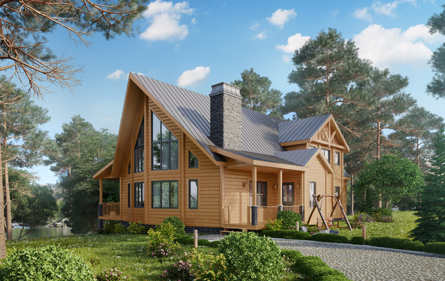 Timber Block Log Home Photos Rustic Charlotte By
