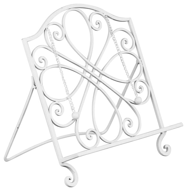 wrought iron cookbook holder - photo albums