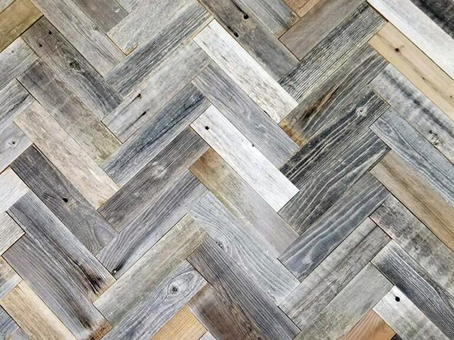 Herringbone Reclaimed Barnwood Planks  3, 20 Sq Ft..