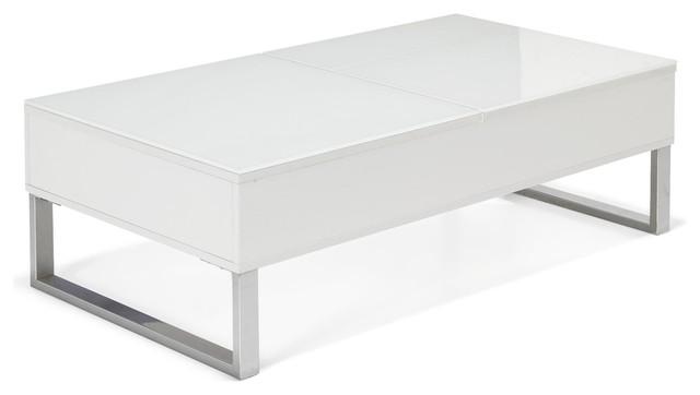 photos  kandis table basse avec tablettes relevables contemporain