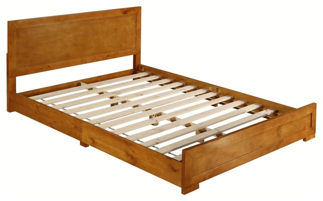 Camden Isle Oxford Oak Bed, Queen.