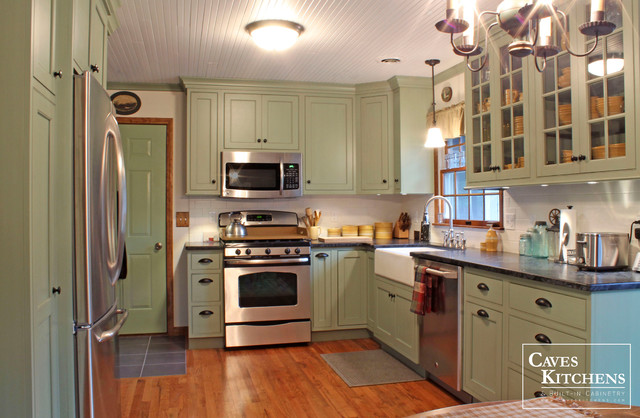country green kitchen green country cottage kitchen with farmhouse sink 2713