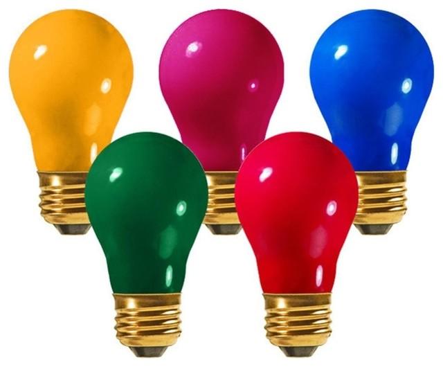 Opaque Multi Light E26 Base Replacement A19 Light Bulbs, 25w, 25-Piece Set.