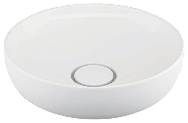 Ceramic Vessel Bathroom Sink, 16.5, Vision 6342.