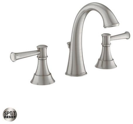 Moen Ashville Double Handle Widespread Bathroom Faucet Valve Included Tra