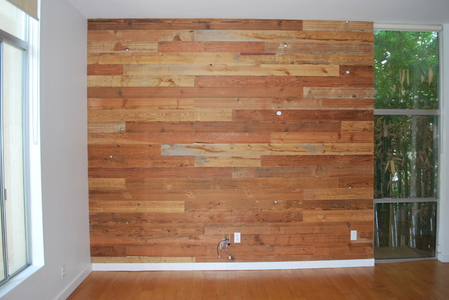 Custom Reclaimed Wood Accent Wall rustic - Custom Reclaimed Wood Accent Wall - Rustic - Salt Lake City - By