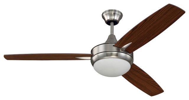Targas 1-Light Indoor Ceiling Fans, Brushed Polished Nickel.