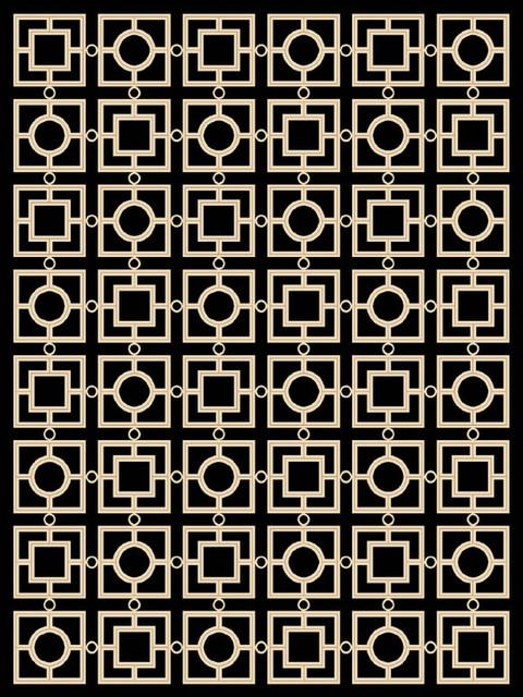 Eichholtz Evans Black Rug, 170x240 cm
