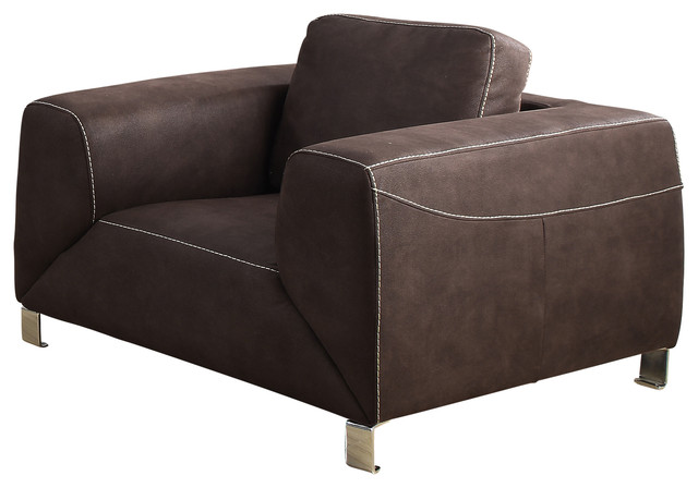 Monarch Specialties Chair, Chocolate Brown, Tan Contrast Micro-Suede, I8511br.