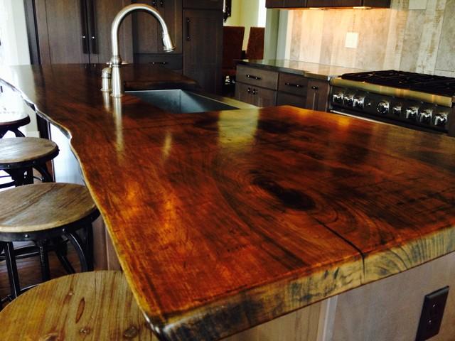 Live edge walnut countertop modern philadelphia by cz