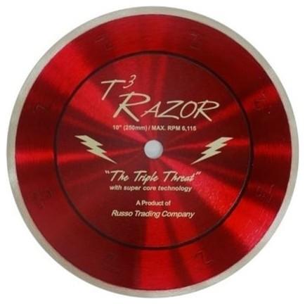 Rtc Products 10 T3 Razor Blade With Super-Core Diamond Blade.