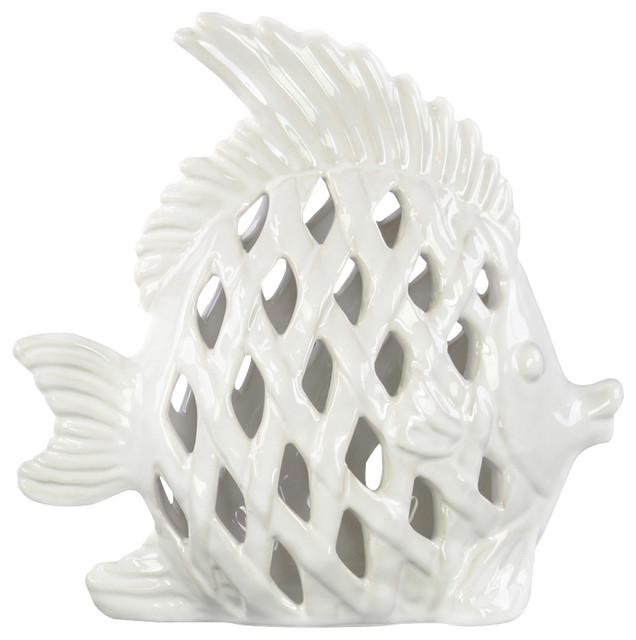 Houzz Spring Landscaping Trends Study: Ceramic Angel Fish Figurine
