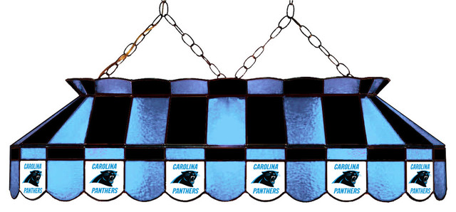 40 Stained Glass Pool Table Lamp Carolina Panthers