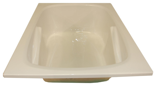 American Acrylic And Injection Armrest Drop-In Combination Tub, Biscuit.