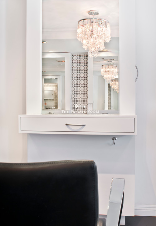 What is average height of beauty salon counter