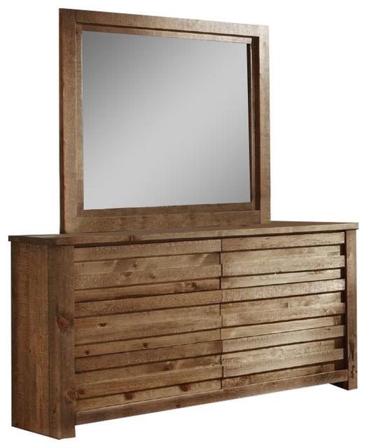 Drawer Dresser And Mirror, P604-23/50.