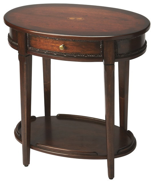 Butler Adelaide Plantation Cherry Oval Side Table