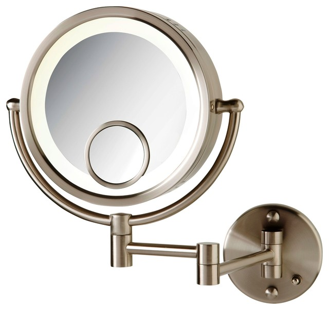 Wall Mount Makeup Mirror modern wall mounted make-up mirror - contemporary - makeup mirrors