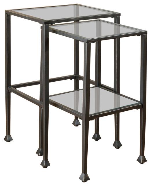 Coaster Fine Furniture Coaster Glass And Metal Nesting