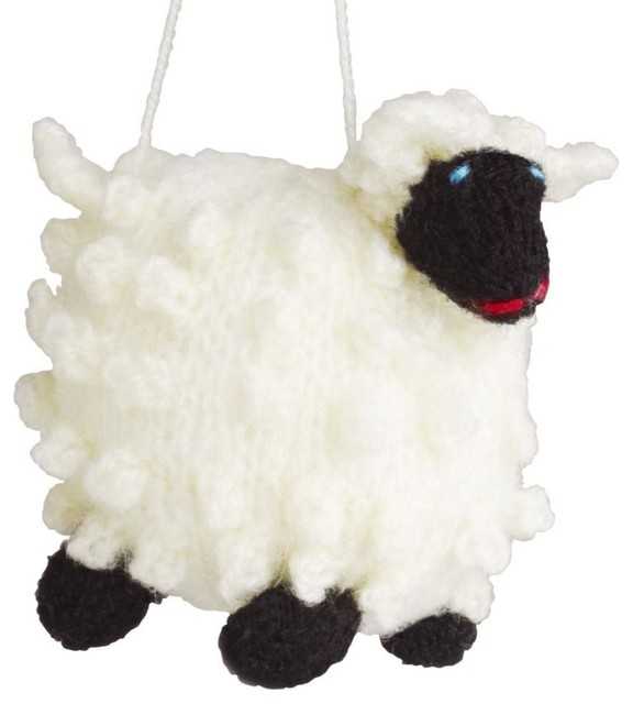 Wooly sheep ornament christmas ornaments by ten for Sheep christmas ornament craft