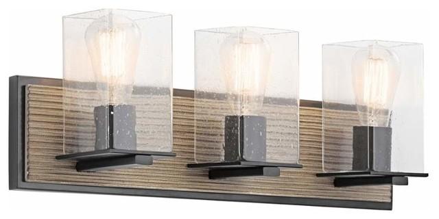 Millwright 3-Light Bathroom Vanity Lights, Olde Bronze.