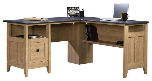Sauder August Hill L-Desk in Dover Oak - Transitional ...
